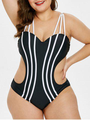 02ae8ac6463a7 38% OFF   2019 Plus Size Mesh Insert Backless Swimsuit