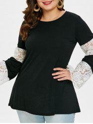 Round Neck Plus Size Tunic T-shirt -