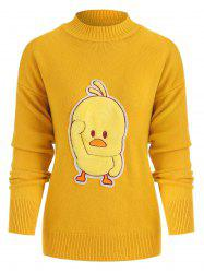 Duck Pattern Crew Neck Sweater -
