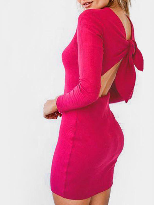 Sale Backless Knitted Bodycon Dress