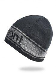 Letter Pattern Winter Knitted Hat -