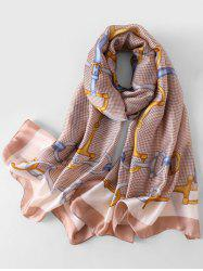 Stylish Printed Faux Silk Scarf -