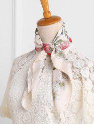 Floral Pattern Decoration Square Scarf -