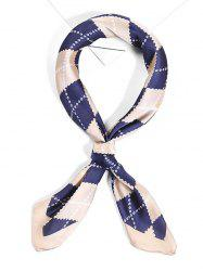 Soft Argyle Pattern Satin Face Neckerchief Scarf -