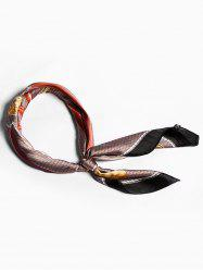 Bordered Cane Pattern Small Scarf For Stewardess -