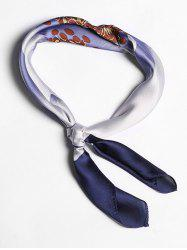 Big Flower Design Imitated Silk Square Scarf -