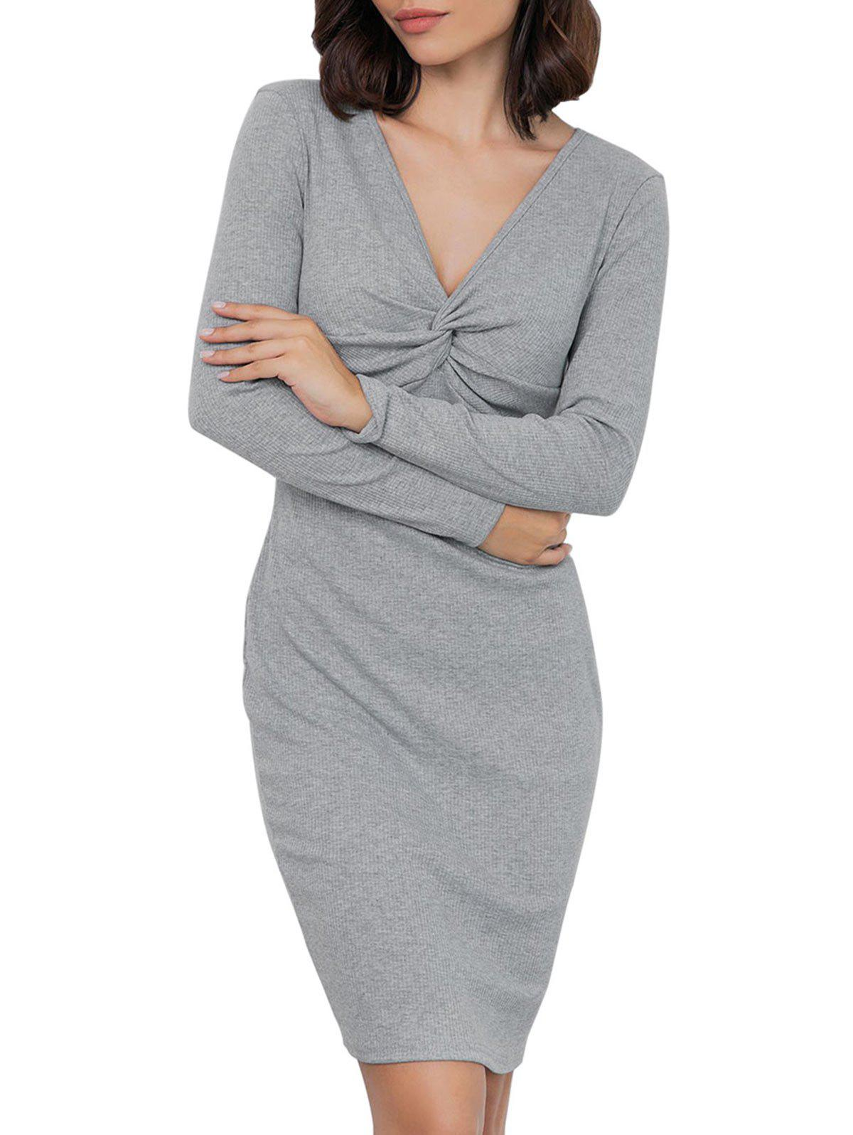 Online Twist Front Knitted Dress