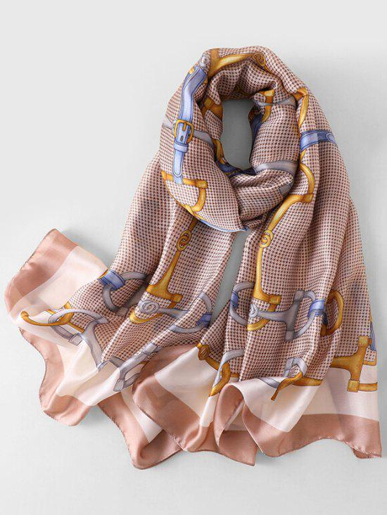 Cheap Stylish Printed Faux Silk Scarf