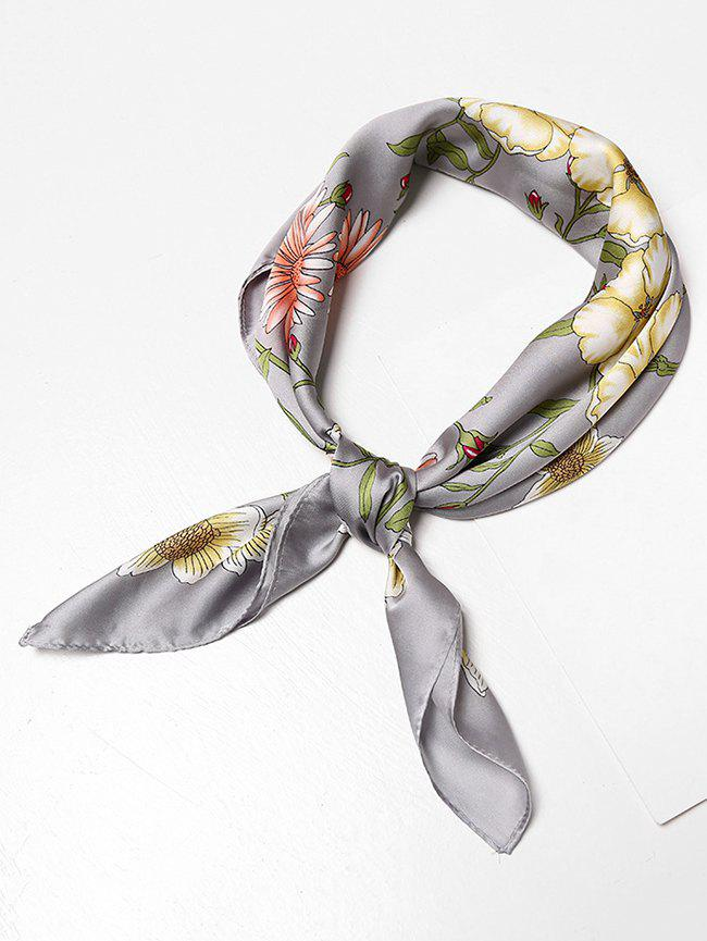 Buy Floral Pattern Decoration Square Scarf