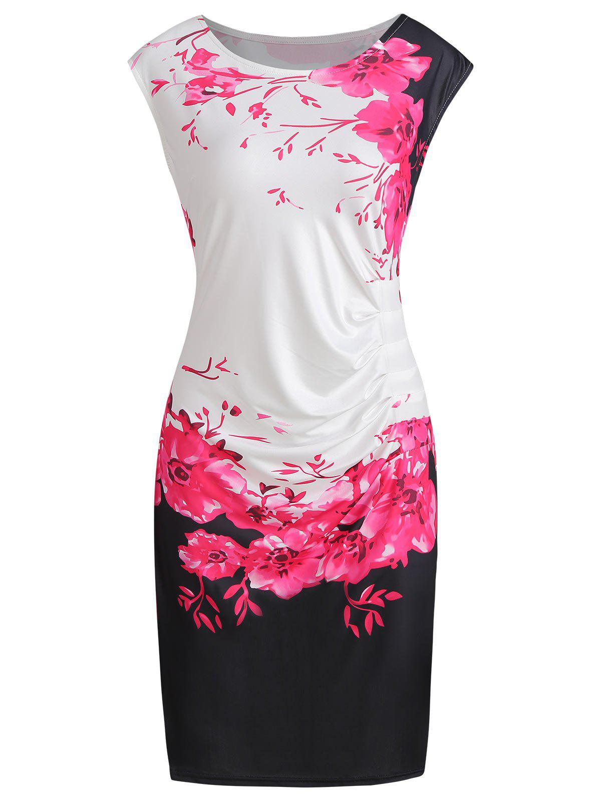 Shop Plus Size Bodycon Floral Print Dress