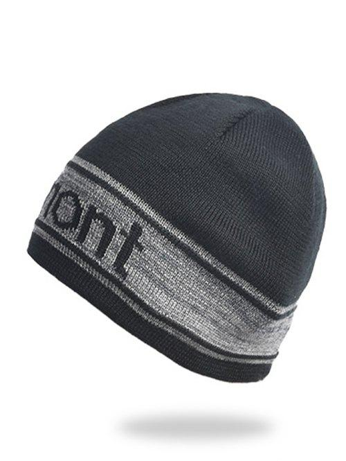 Outfit Letter Pattern Winter Knitted Hat