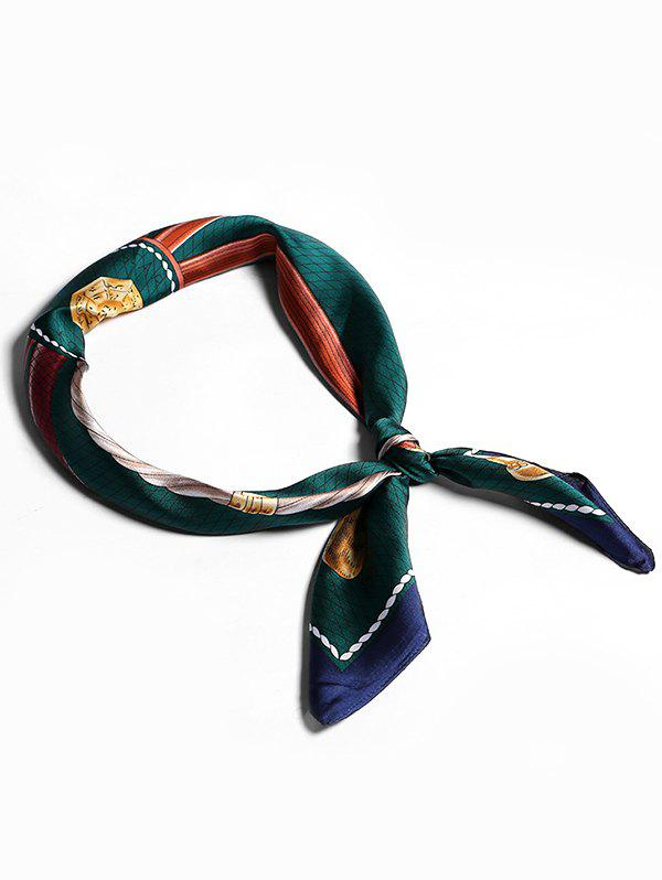 Store Bordered Cane Pattern Small Scarf For Stewardess