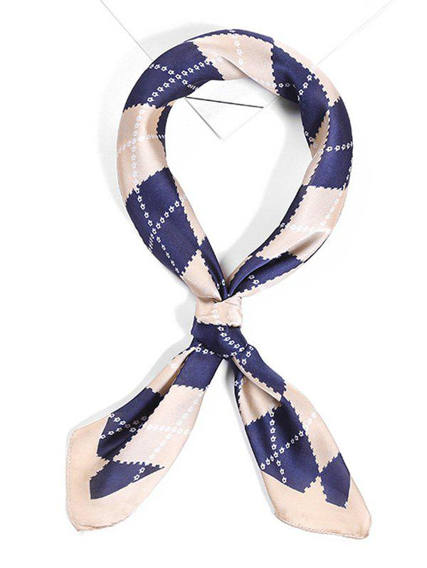 Shop Soft Argyle Pattern Satin Face Neckerchief Scarf