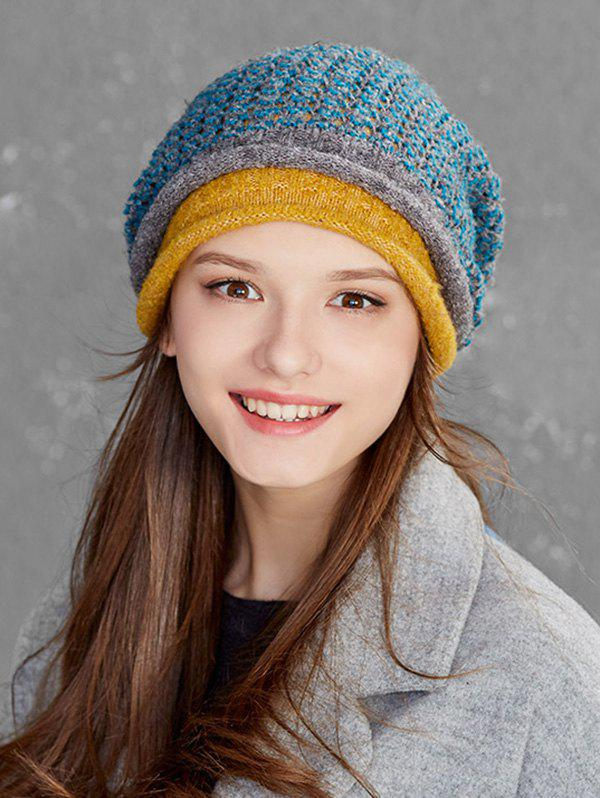 42% OFF   2019 Winter Woven Flanging Beanie  92f4026680b1