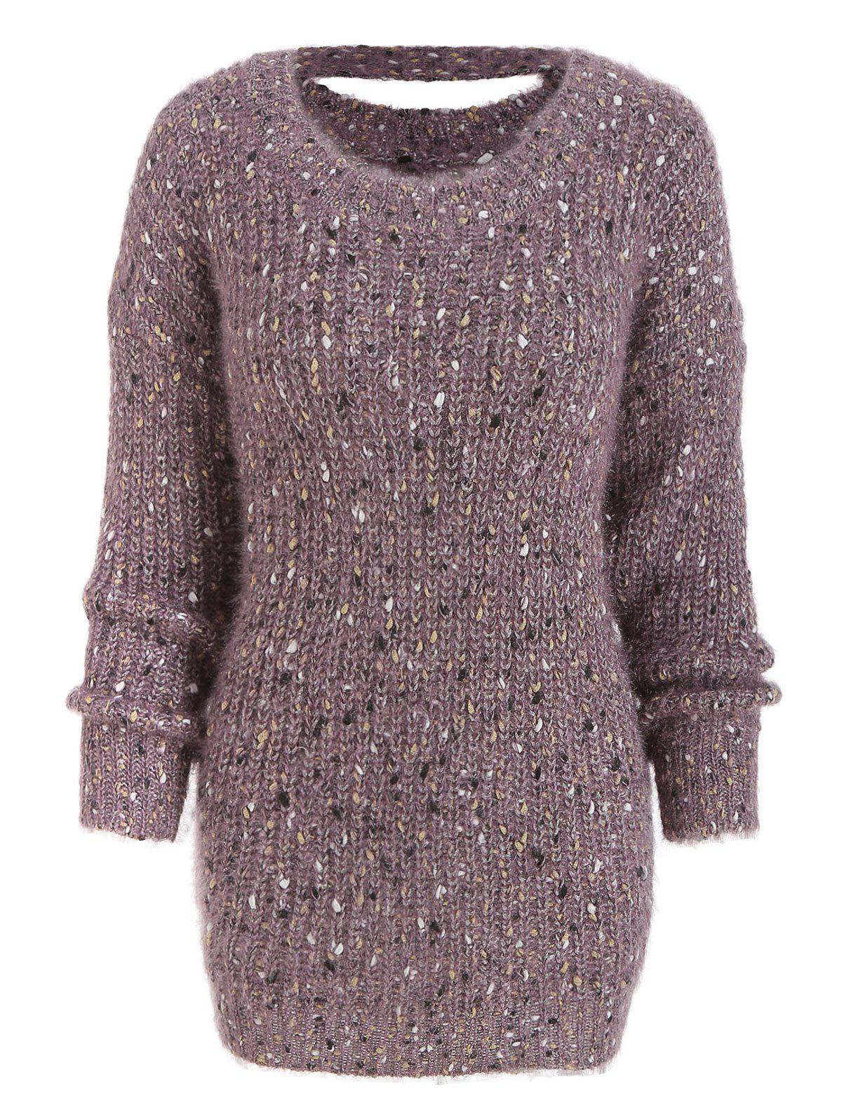 Store Long Sleeve Cut Out Chunky Sweater