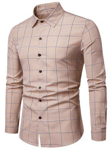 Checked Print Button Up Long Sleeve Shirt
