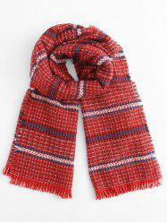 Winter Tartan Plaid Tassel Scarf -