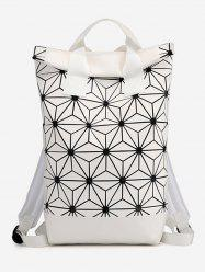 Geometric Floral Pattern Backpack -