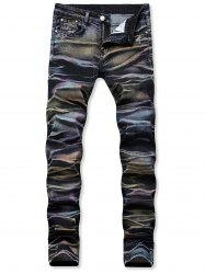 Long Straight Stretch Elastic Jeans -