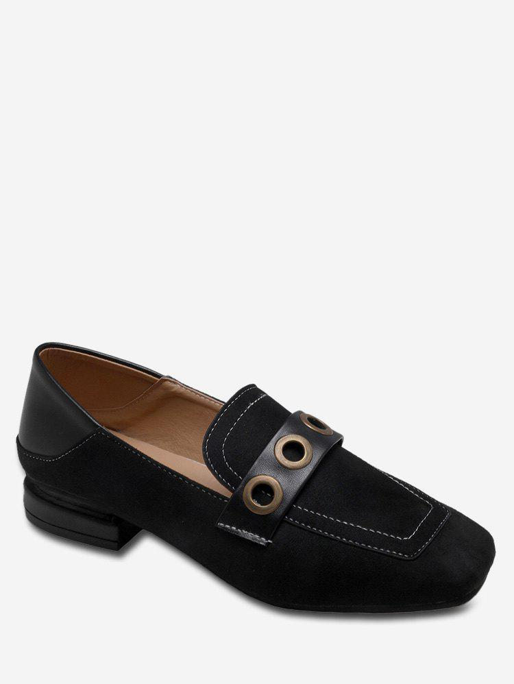 Buy Grommet Strap Square Toe Flats
