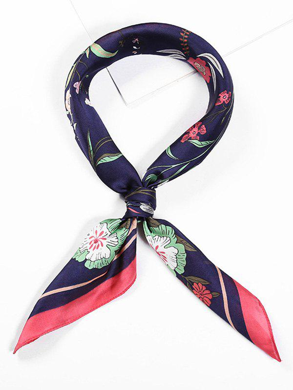 Trendy Floral Printed Square Shape Scarf