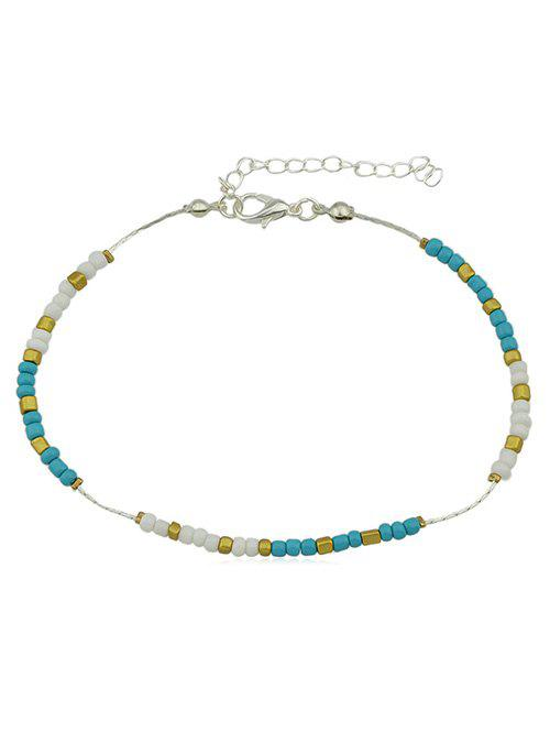 Fancy Bohemia Small Beads Decoration Thin Anklet