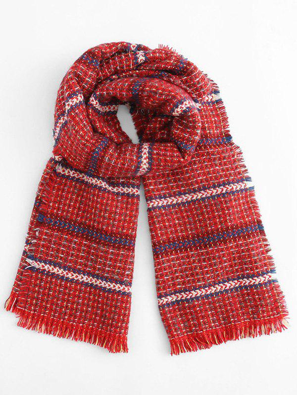 Buy Winter Tartan Plaid Tassel Scarf