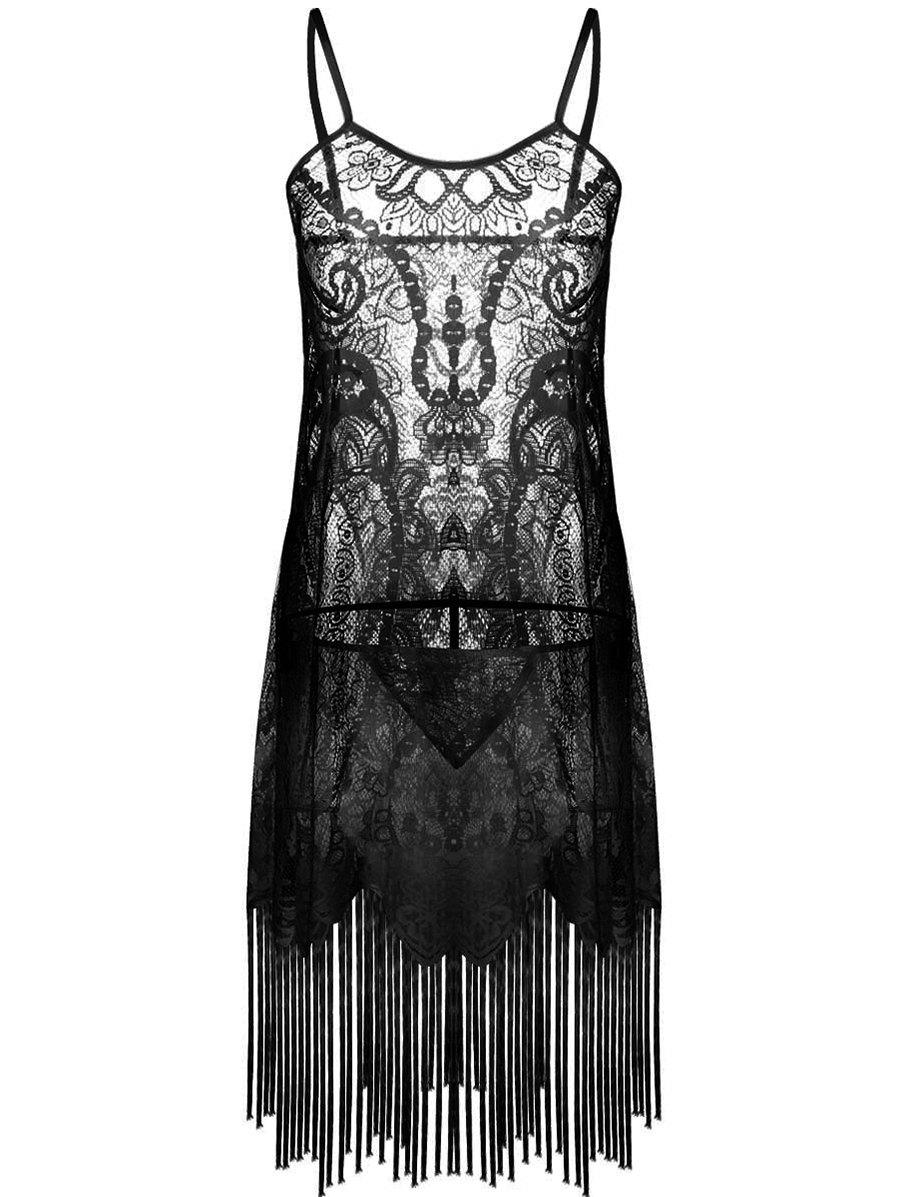 Affordable Fringed Sexy Lace Dress