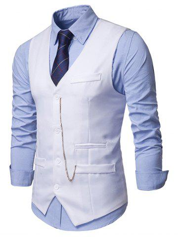 Solid Single Breasted Chain Waistcoat