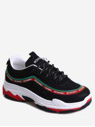 Color Block Letter Running Sneakers -