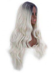 Long Middle Part Gradient Wavy Cosplay Synthetic Wig -