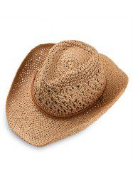 Simple Style Straw Hat -