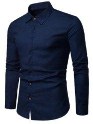 Solid Hem Curved Breathable Long Sleeve Shirt -