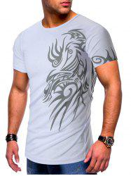 Tattoo Print Short Sleeves Casual T-shirt -
