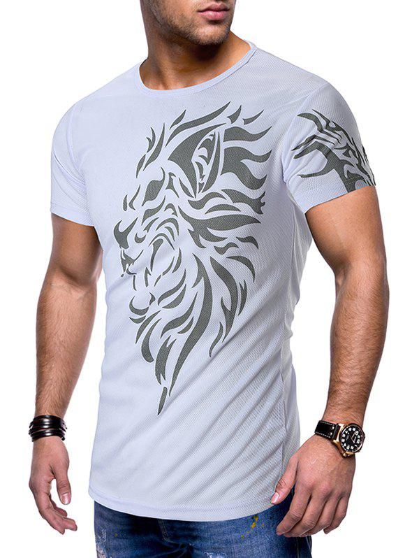Best Breathable Tattoo Printed Casual Short Sleeves T-shirt