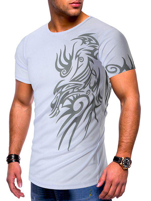 Shop Tattoo Print Short Sleeves Casual T-shirt