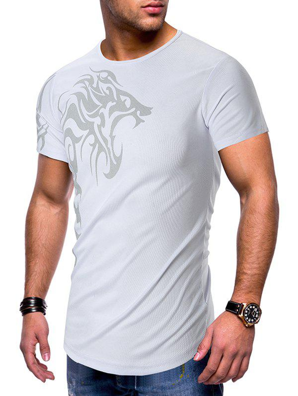Outfits Dragon Printed Breathable Short Sleeves T-shirt