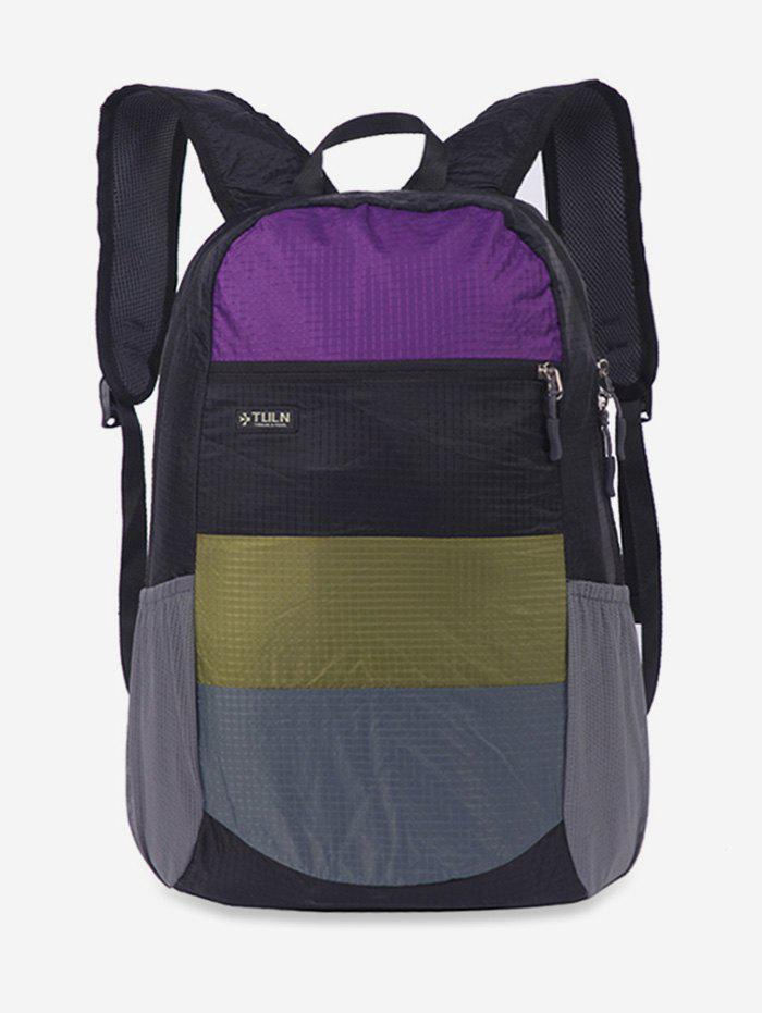 Chic Color Block Folding Travel Backpack
