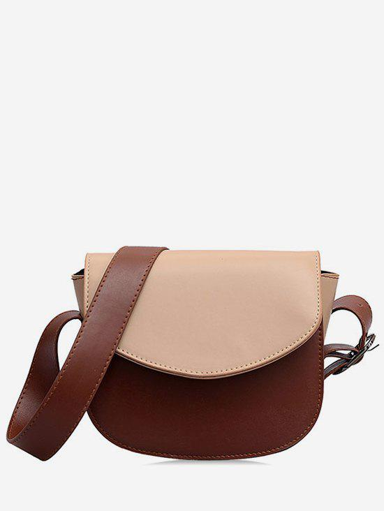 Pu Leather Front Flap Crossbody Bag