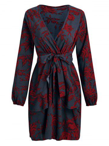 f9d26137c318 Vintage Floral Long Sleeve Dress - Free Shipping