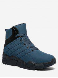 Lace Up Platform Quilted Snow Boots -