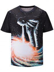 Character Galaxy Pattern Short Sleeve Tee -