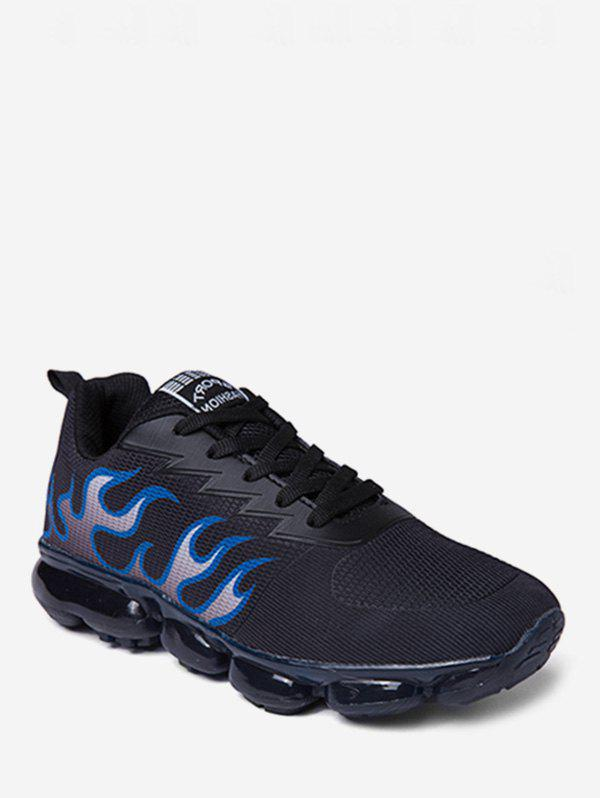 Unique Fire Pattern Lace Up Athletic Sneakers