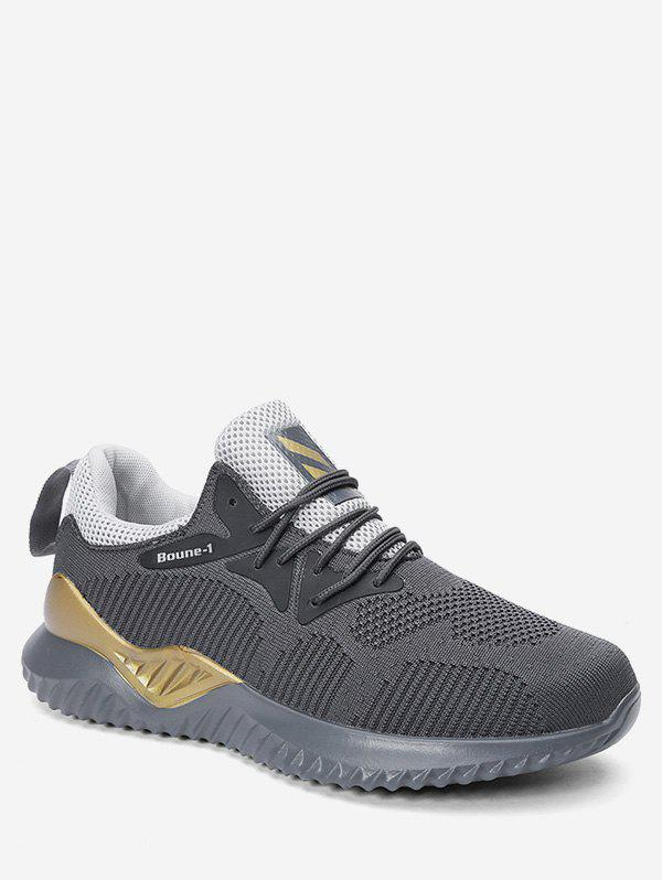 Affordable Contrast Color Lacing Athletic Sneakers
