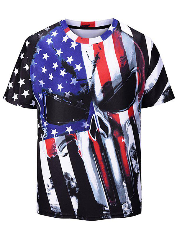 New American Flag Printed Short Sleeves T-shirt