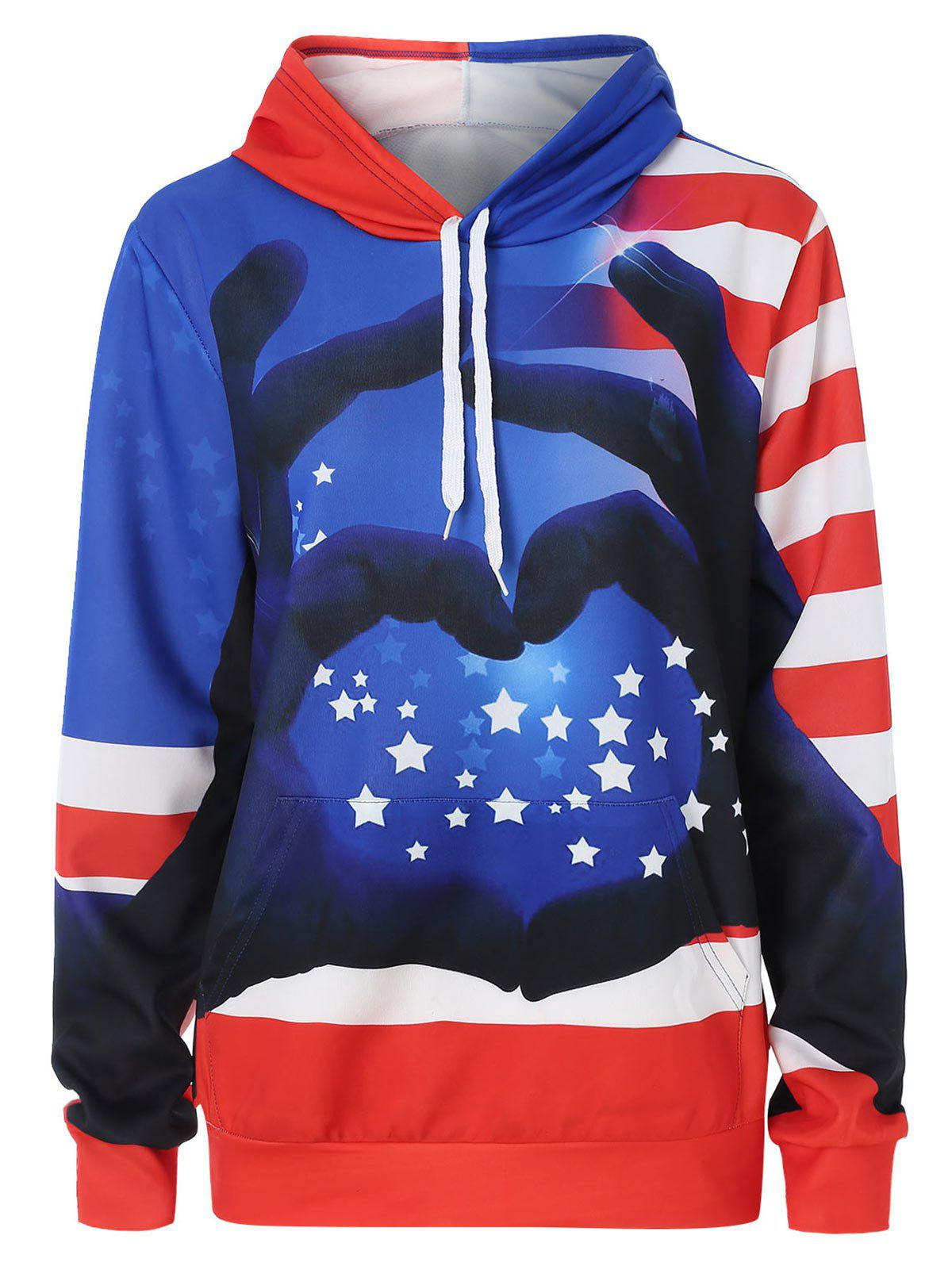 Hot Plus Size Gesture 3D Print Graphic Hoodie