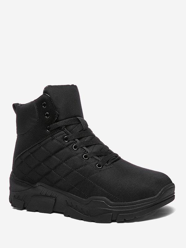 Outfit Lace Up Platform Quilted Snow Boots
