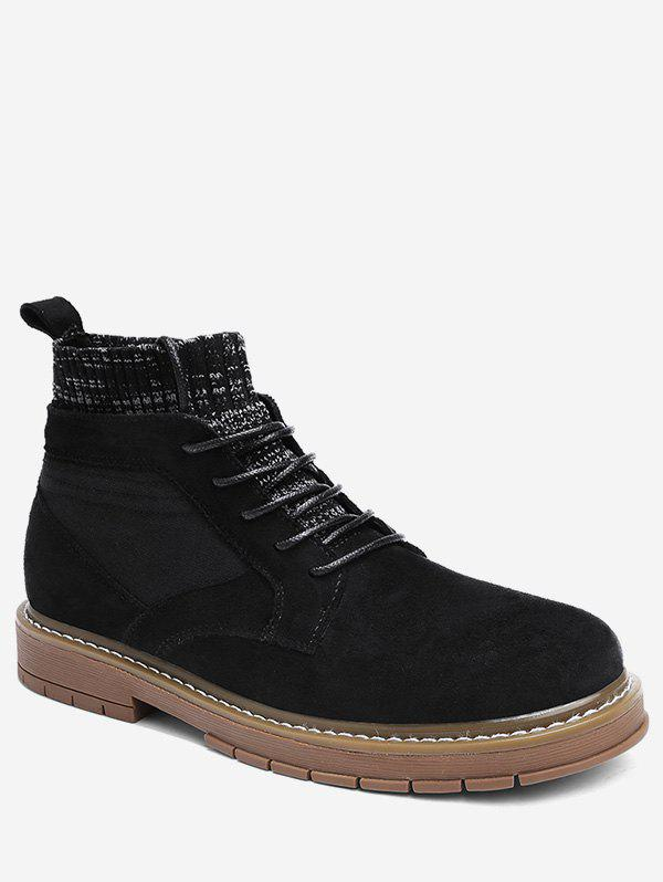 Buy Round Toe Patch Sock Boots