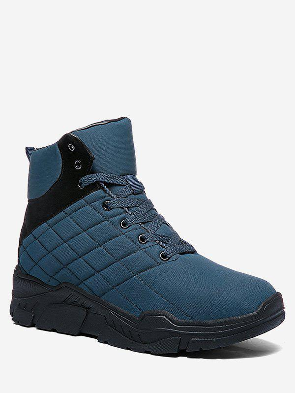 Affordable Lace Up Platform Quilted Snow Boots