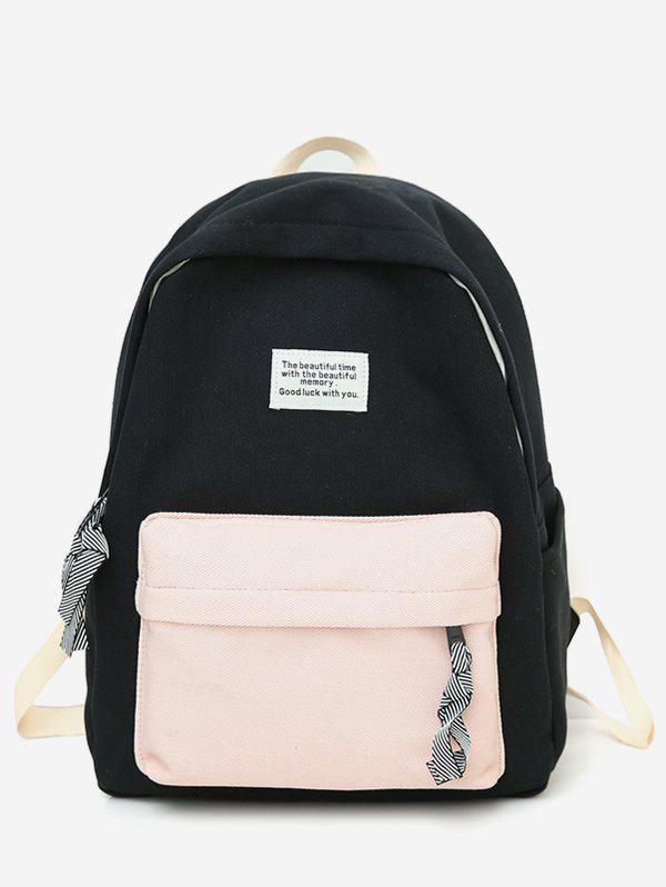Outfits Letter Patchwork Color Block Backpack